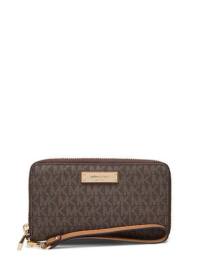 Lg Flat Mf Phn Case Bags Clutches Braun MICHAEL KORS BAGS