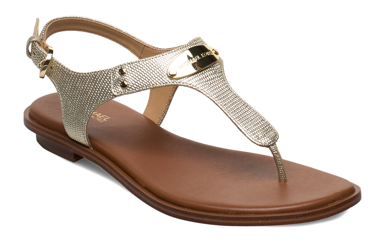 Michael Kors Shoes MK PLATE THONG - PALE GOLD