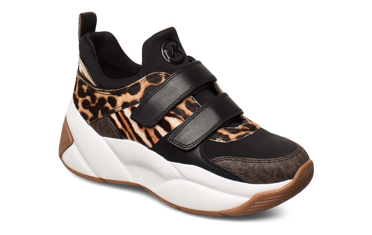 Michael Kors Shoes KEELEY TRAINER - DK CAMEL