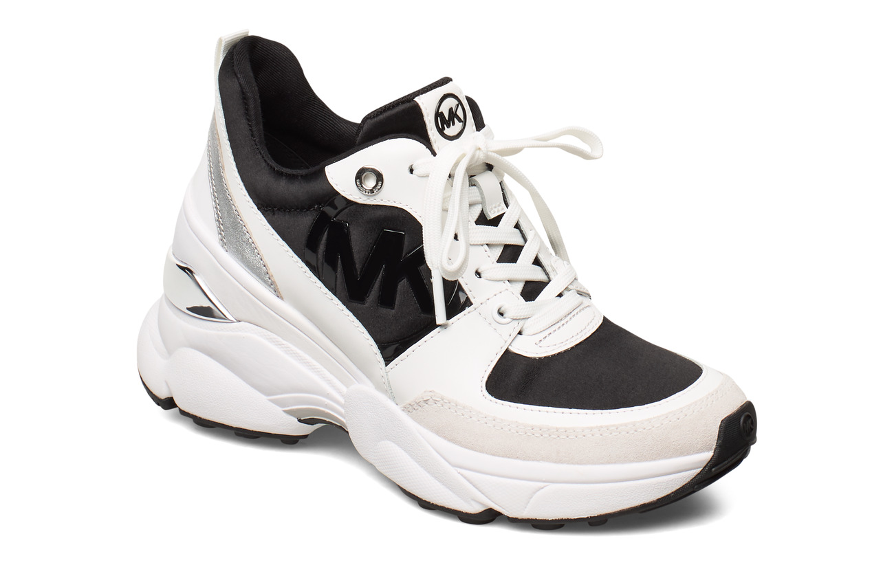 Michael Kors Shoes MICKEY TRAINER - BLK/OPTICWHT