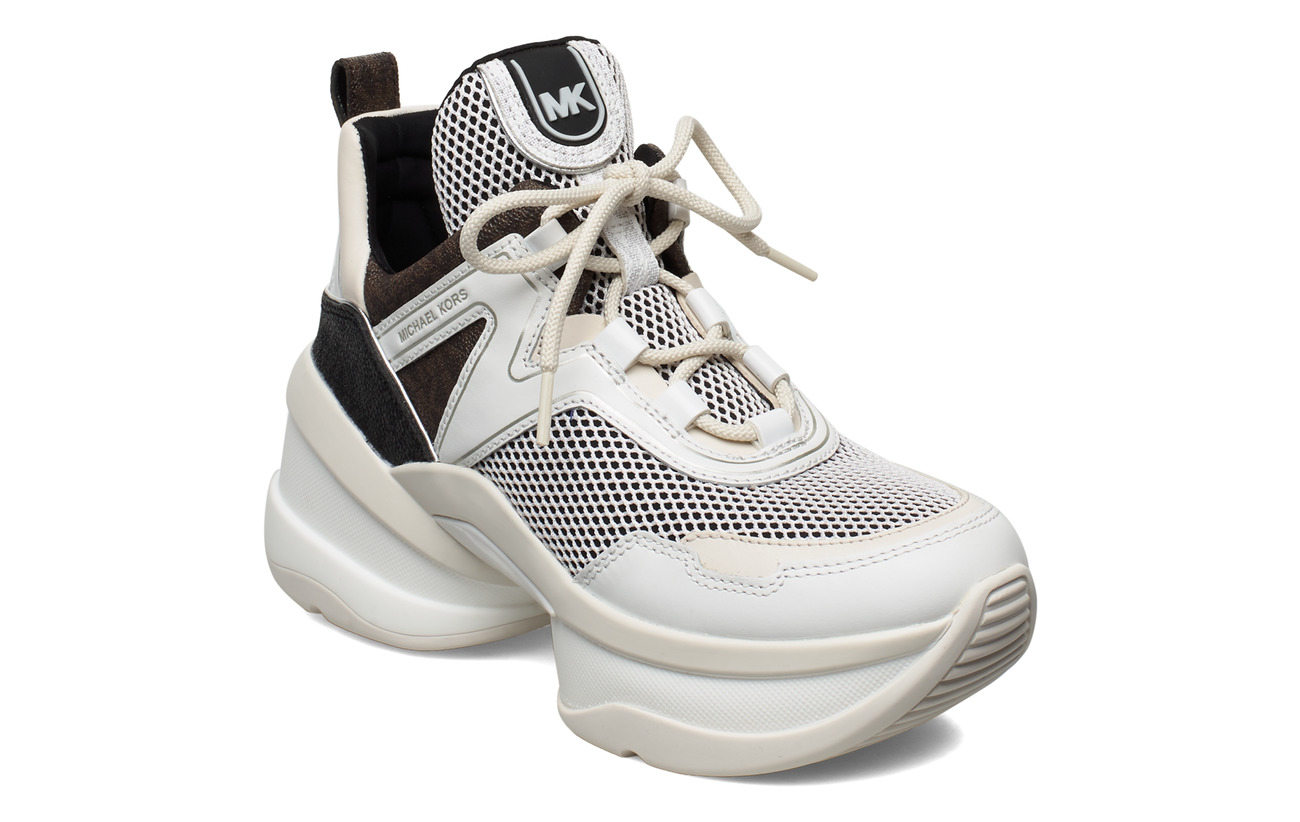 Michael Kors Shoes OLYMPIA TRAINER - BLK/OPTICWHT