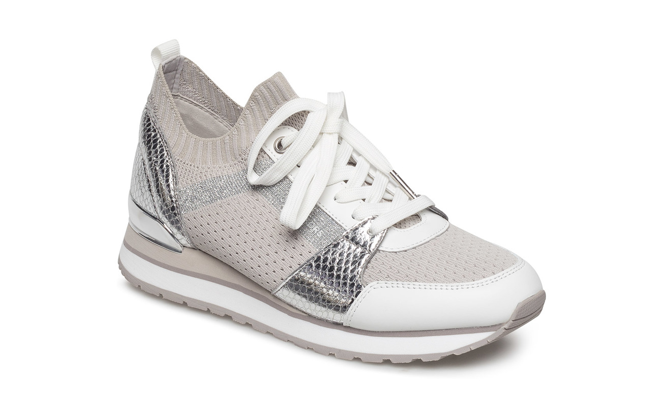 56dd635d6d69 Billie Knit Trainers (Aluminum) (£102) - Michael Kors Shoes ...
