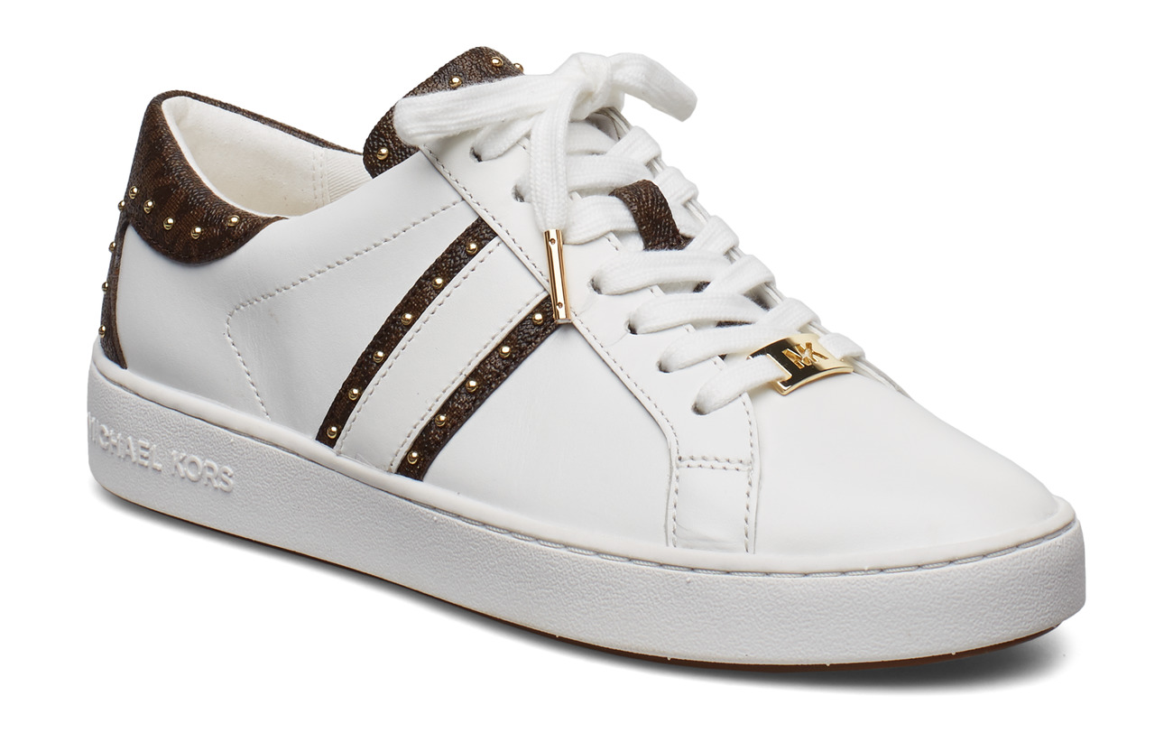 Michael Kors Shoes KEATON STRIPE SNEAKER - OP WHT/BROWN
