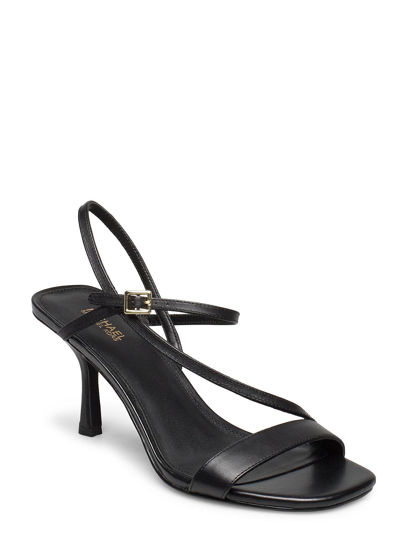 Image of Tasha Sandal Sandal Med Hæl Sort Michael Kors Shoes (3406308509)