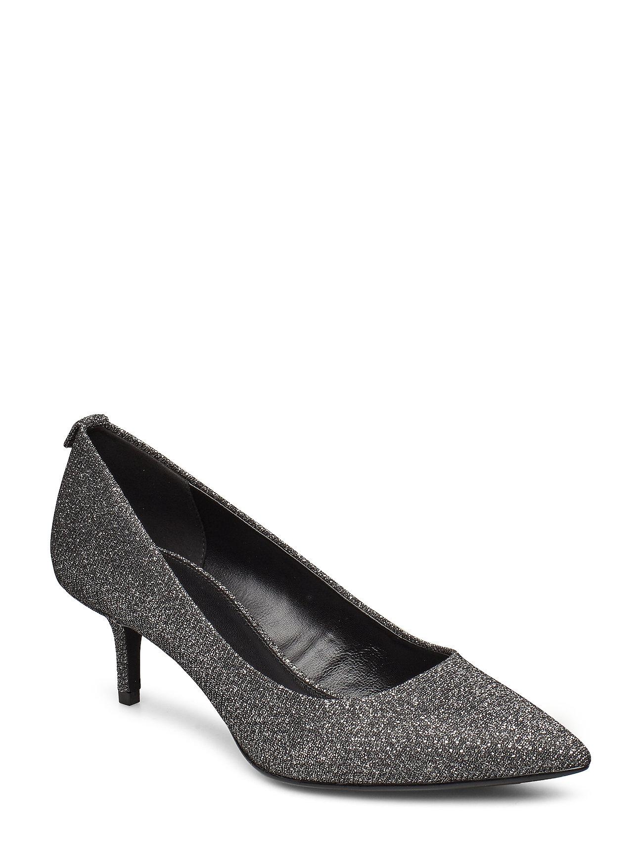 Michael Kors Shoes MK-FLEX KITTEN PUMP - BLK/SILVER