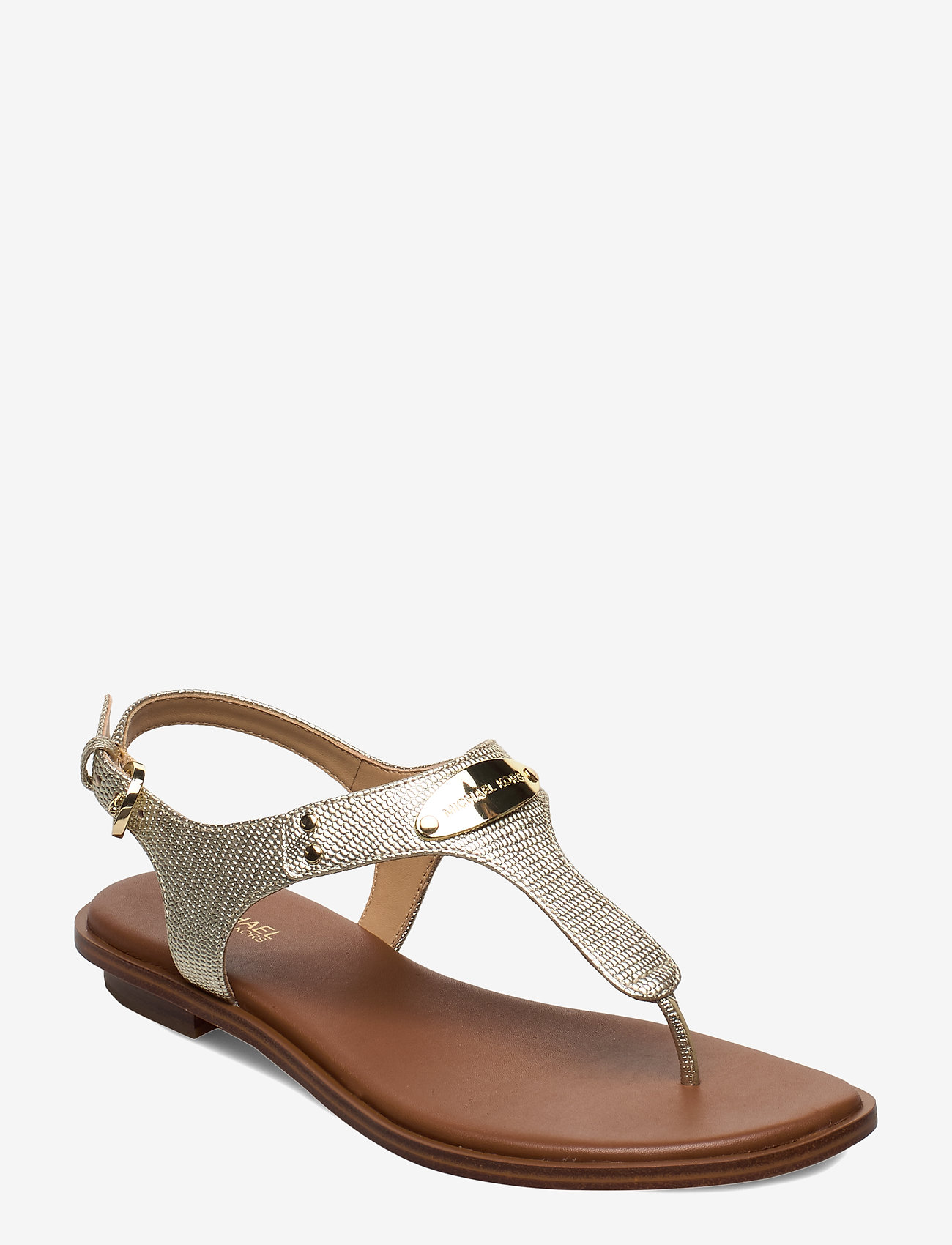 Michael Kors - MK PLATE THONG - platte sandalen - pale gold - 0