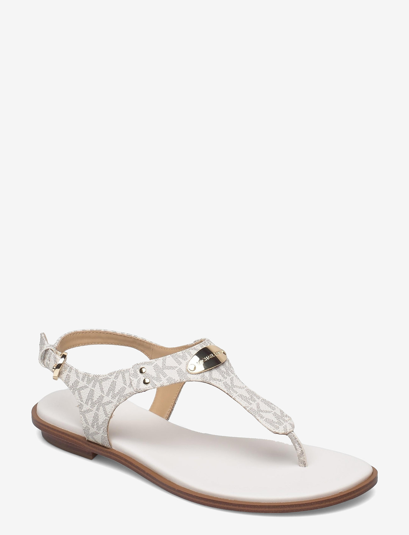 Michael Kors - MK PLATE THONG - platte sandalen - vanilla - 0
