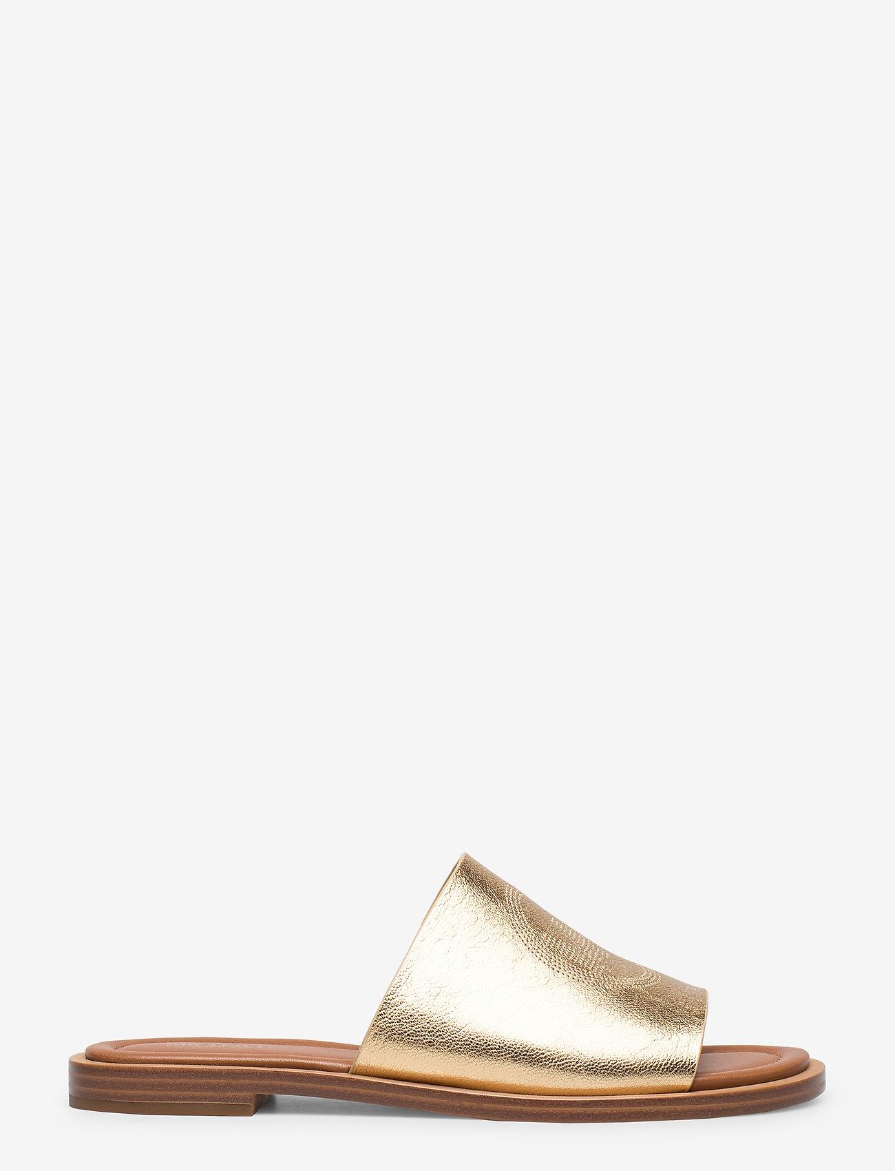Leandra Slide (Pale Gold) (70 €) - Michael Kors Shoes 9veAG