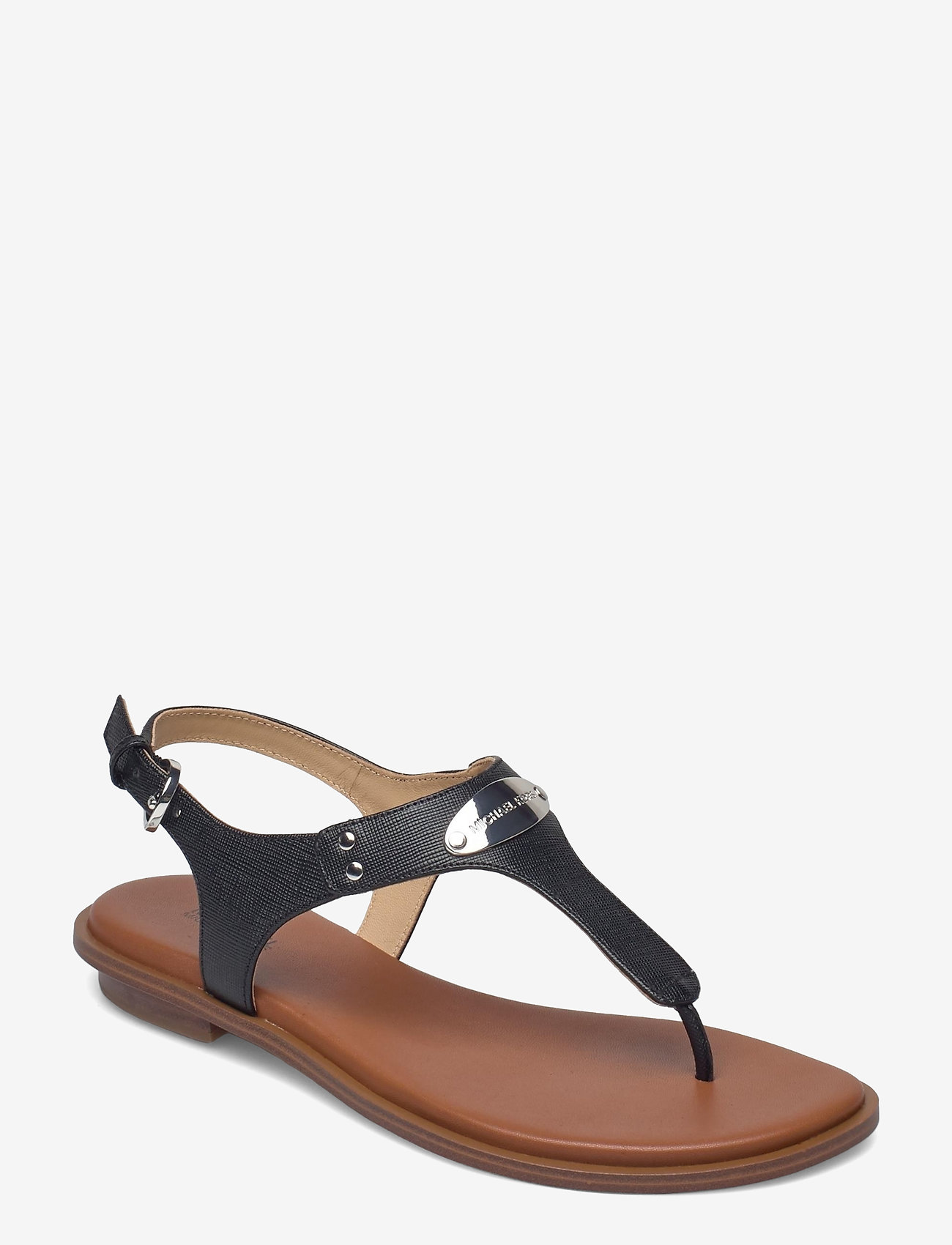 Michael Kors - MK PLATE THONG - platte sandalen - black - 0