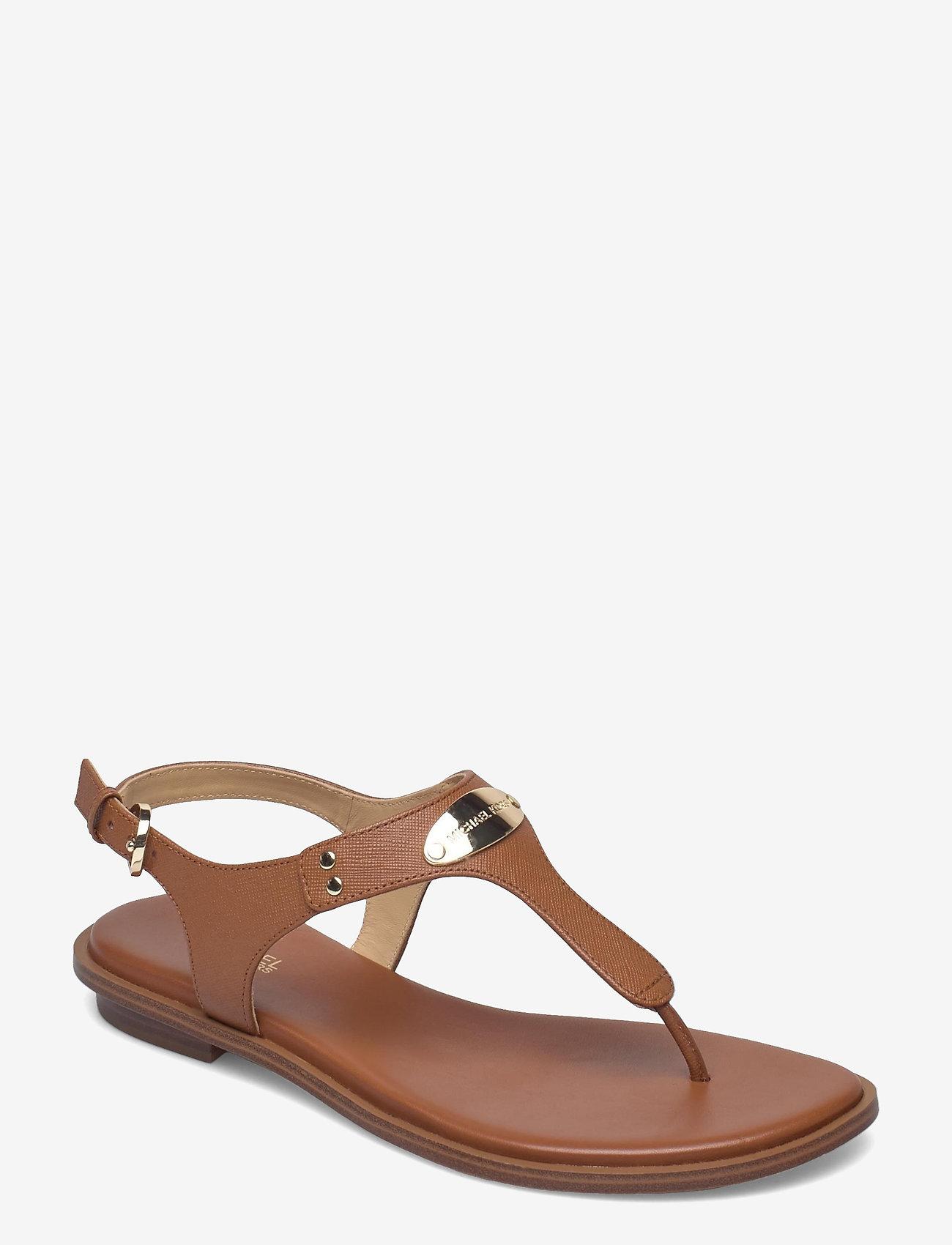 Michael Kors - MK PLATE THONG - platte sandalen - luggage - 0