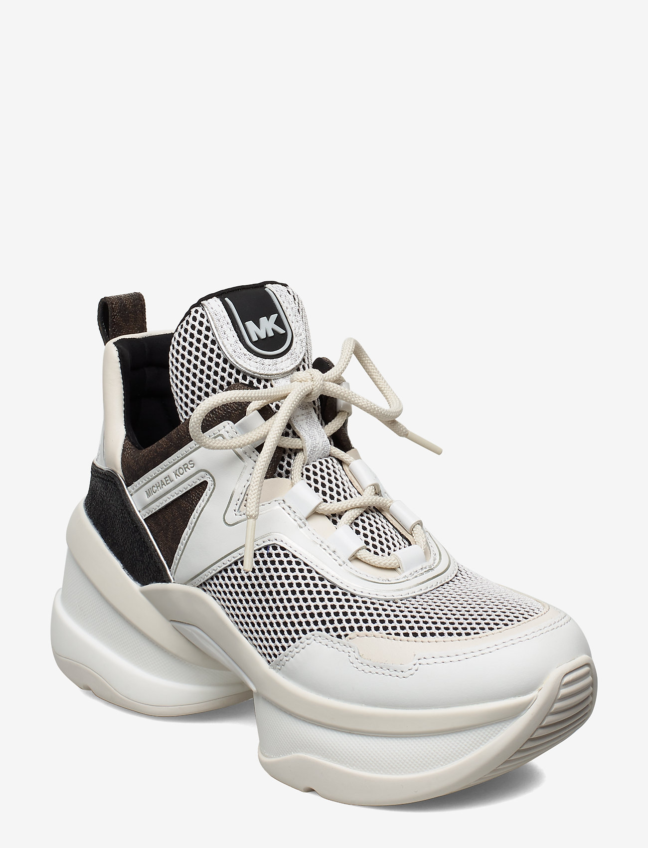 Michael Kors Shoes - OLYMPIA TRAINER - chunky sneakers - blk/opticwht