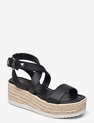 Michael Kors - LOWRY WEDGE - espadrilles met sleehak - black - 0