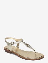 Michael Kors - MALLORY THONG - platte sandalen - pale gold - 0