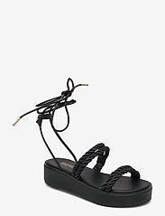 Michael Kors - MARINA SANDAL - platte sandalen - black - 0
