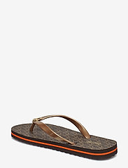 Michael Kors - MK FLIP FLOP STRIPE EVA - teenslippers - brown - 4