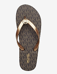 Michael Kors - MK FLIP FLOP STRIPE EVA - teenslippers - brown - 6