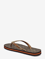 Michael Kors - MK FLIP FLOP STRIPE EVA - teenslippers - brown - 5