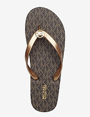 Michael Kors - MK FLIP FLOP STRIPE EVA - teenslippers - brown - 7