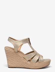 Michael Kors - BERKLEY WEDGE - espadrilles met sleehak - pale gold - 1