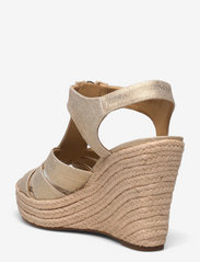 Michael Kors - BERKLEY WEDGE - espadrilles met sleehak - pale gold - 2