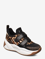 Michael Kors Shoes - KEELEY TRAINER - chunky sneakers - dk camel - 0
