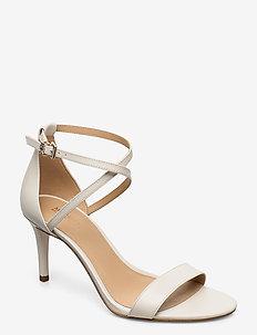 AVA MID SANDAL - heeled sandals - lt cream