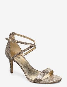 AVA MID SANDAL - heeled sandals - sand