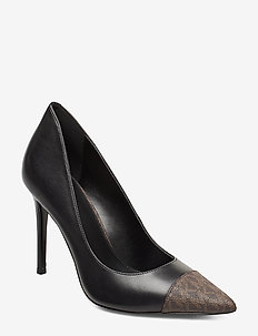 KEKE TOE CAP PUMP - BLK/BROWN
