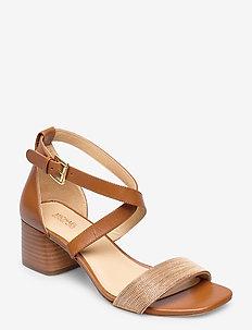 DIANE MID - heeled sandals - luggage