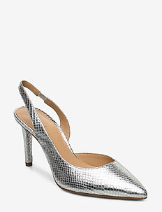 LUCILLE FLEX SLING - sling backs - silver