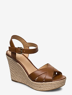 SUZETTE WEDGE - espadrilles met sleehak - luggage