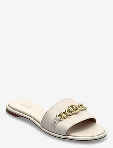 RINA SLIDE - platte sandalen - lt cream
