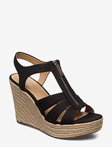 BERKLEY WEDGE - espadrilles met sleehak - black