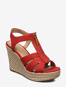 BERKLEY WEDGE - heeled espadrilles - dk persimmon