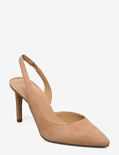 LUCILLE FLEX SLING - sling backs - peanut