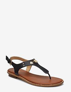 MK PLATE THONG - flat sandals - black