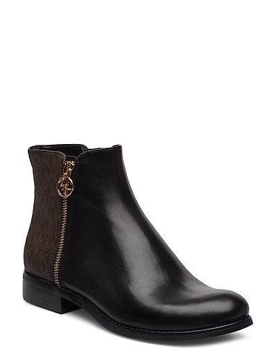 Jaycie Flat Bootie Shoes Boots Ankle Boots Ankle Boots Flat Heel Schwarz MICHAEL KORS SHOES