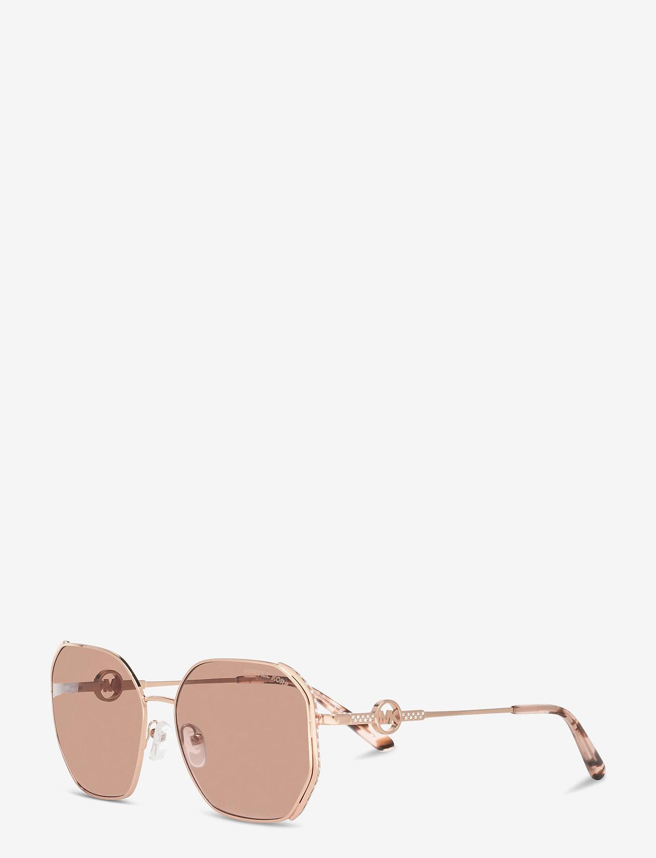 Michael Kors Sunglasses - SANTORINI - rechthoekig model - brown pink gradient - 1