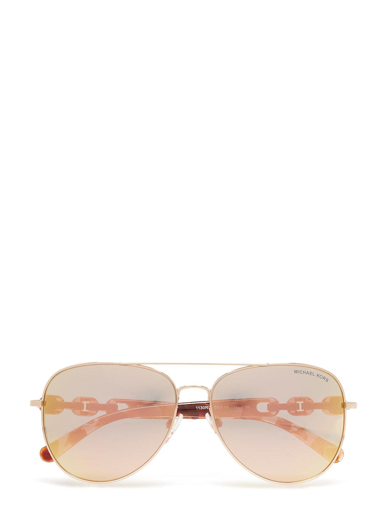 9dc7d9496f6 Pandora aviator solbriller fra Michael Kors til dame i Guld - Pashion.dk