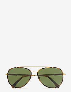 Aviator - okulary przeciwsłoneczne aviator - tokyo tortoise/gold-tone