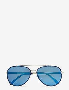 Aviator - okulary przeciwsłoneczne aviator - navy/silver-tone