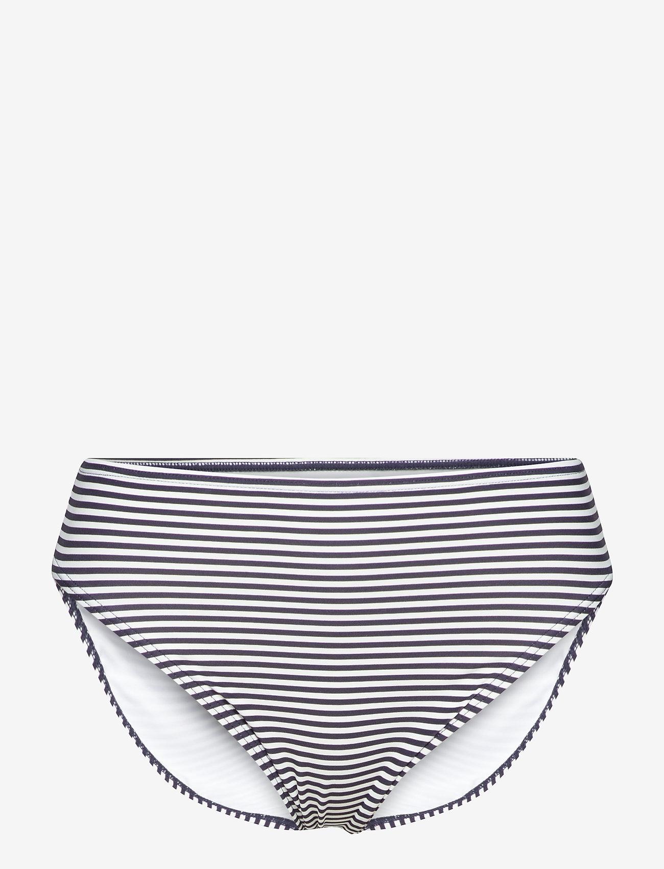 Michael Kors Swimwear - Mini Stripe High Waistd Bikini Bottom - bikinibroekjes - new navy - 0