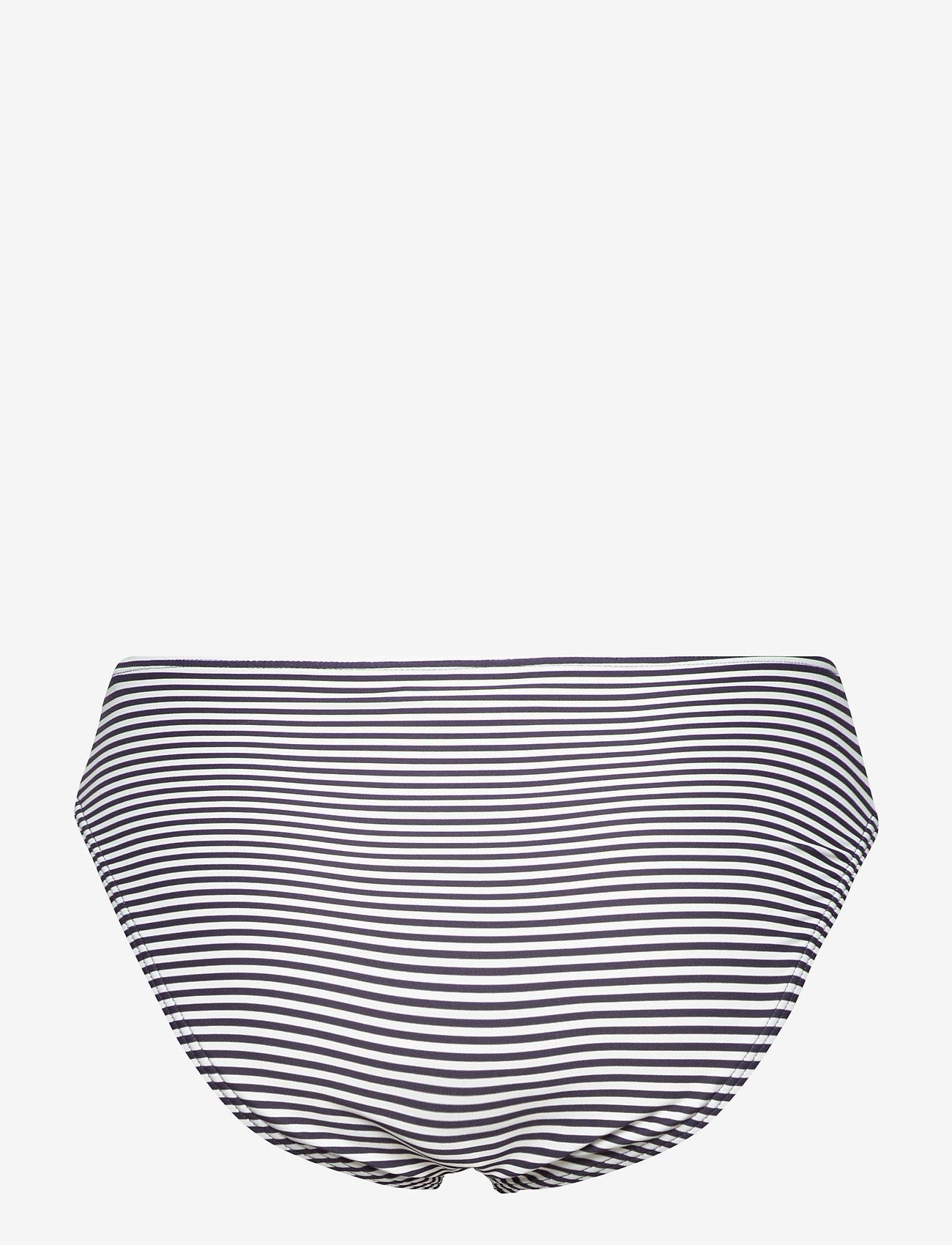 Michael Kors Swimwear - Mini Stripe High Waistd Bikini Bottom - bikinibroekjes - new navy - 1