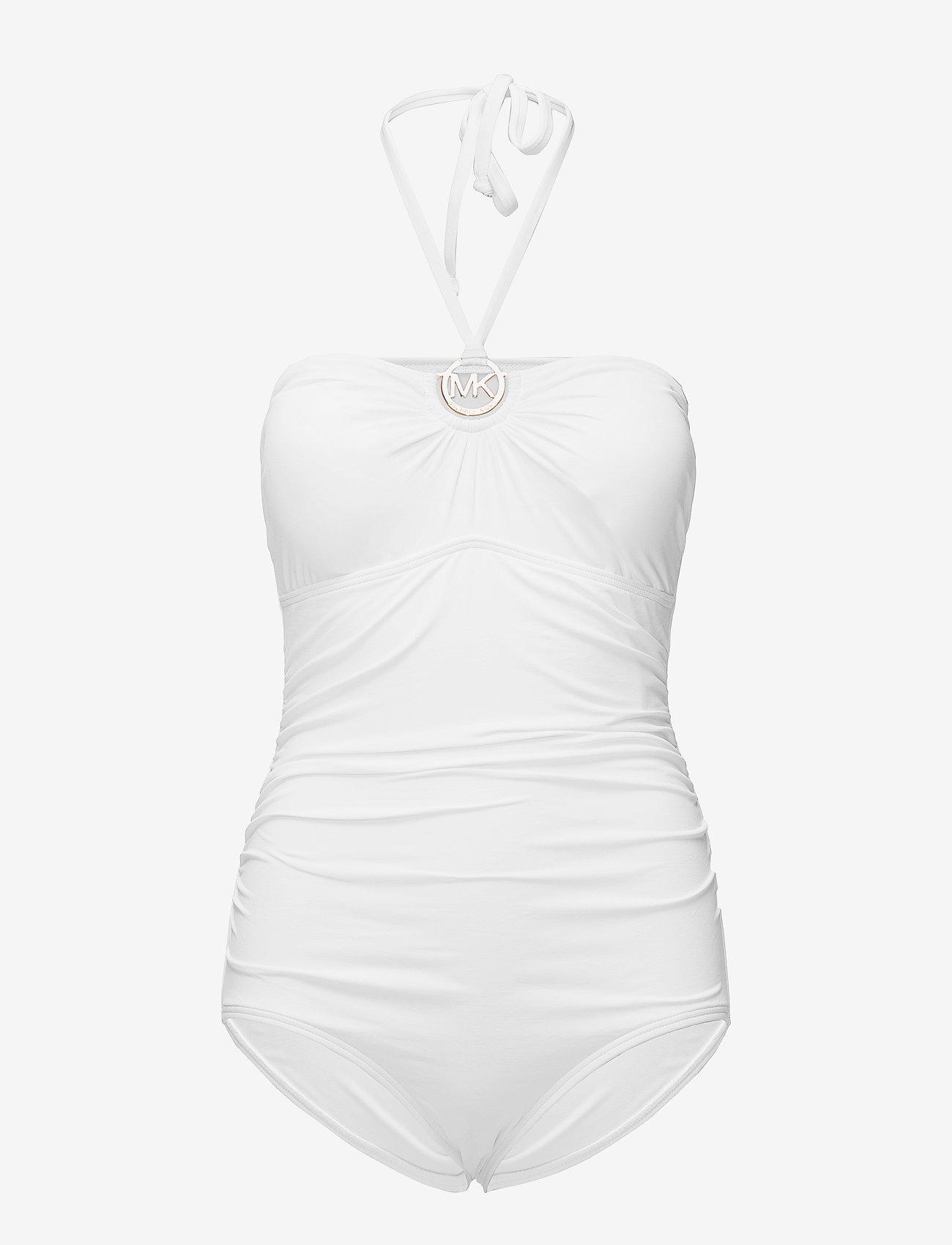 Michael Kors Swimwear - SHIRRED 1PCS - badpakken - white - 0