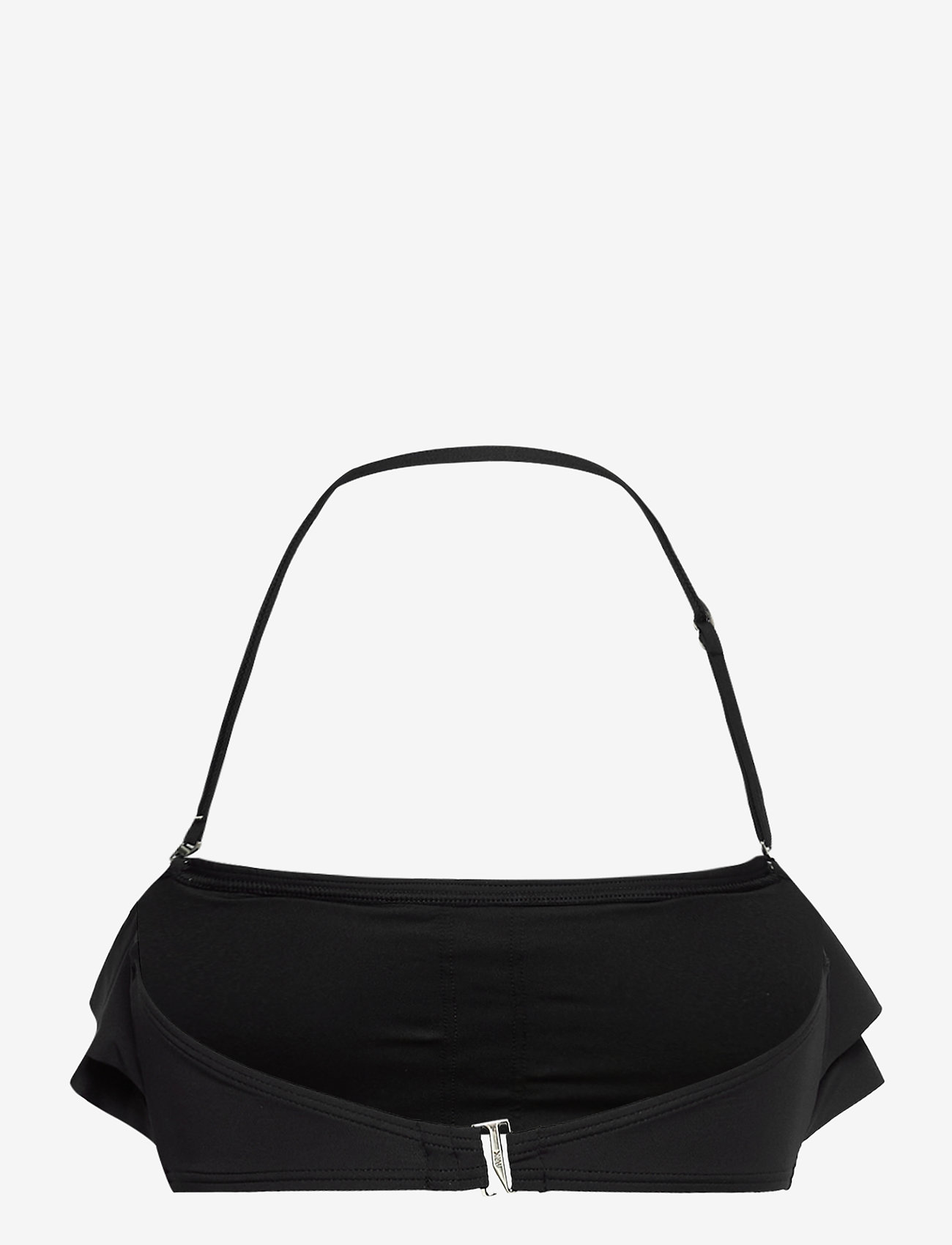 Michael Kors Swimwear - Iconic Solids Ruffle Bandeau Bikini Top - bikinitops - black - 1