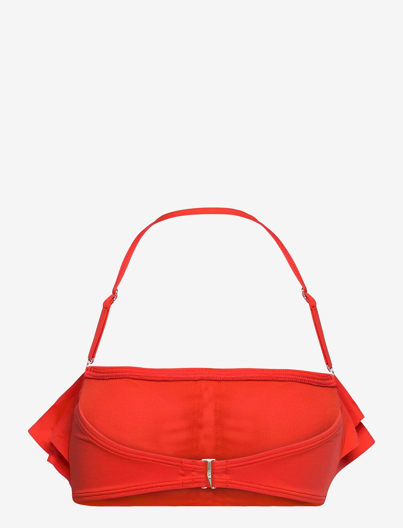 Michael Kors Swimwear - Iconic Solids Ruffle Bandeau Bikini Top - bikinitops - poppy - 1