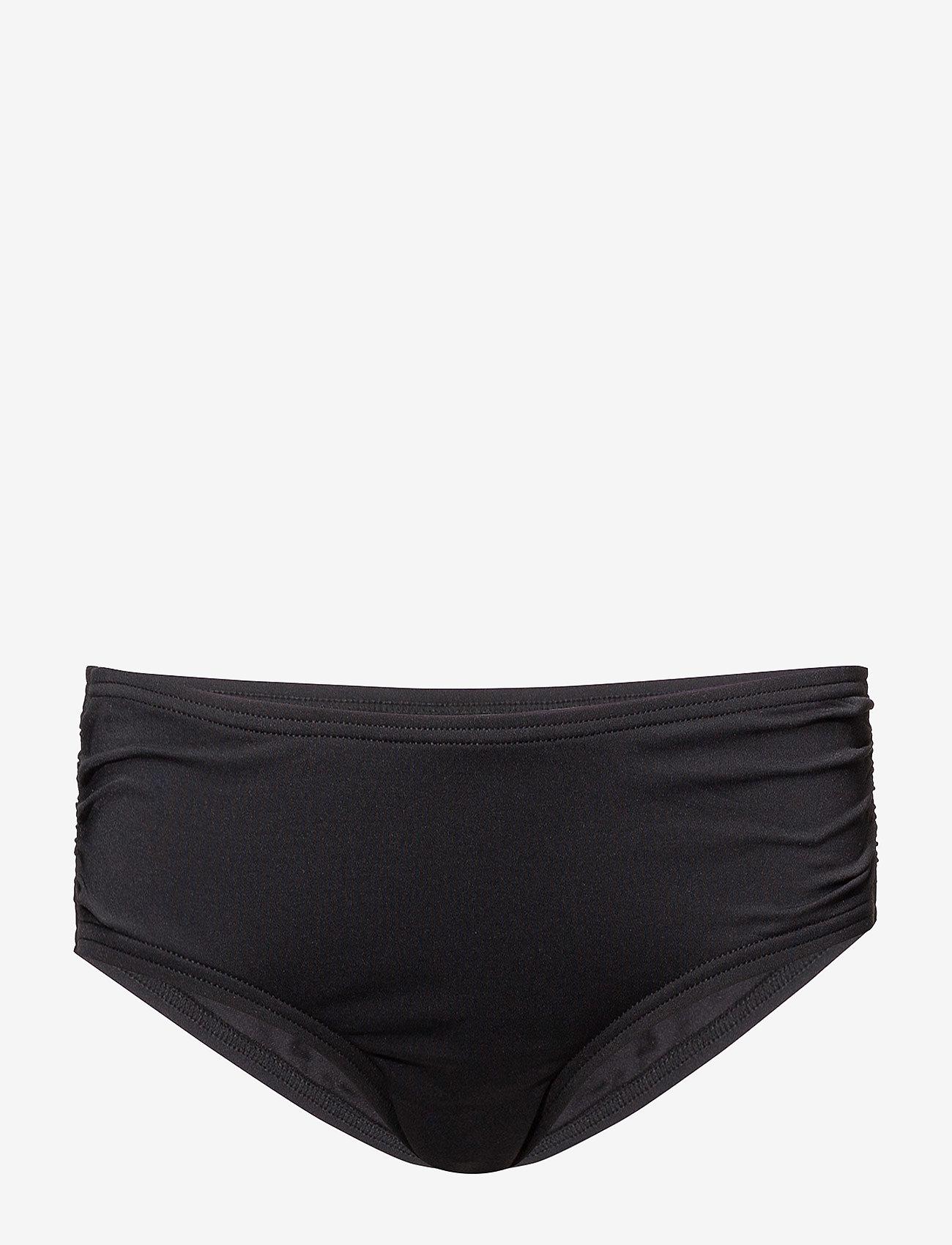 Michael Kors Swimwear - Iconic Solids Shirred Bikini Bottom - bikinibroekjes - black - 0