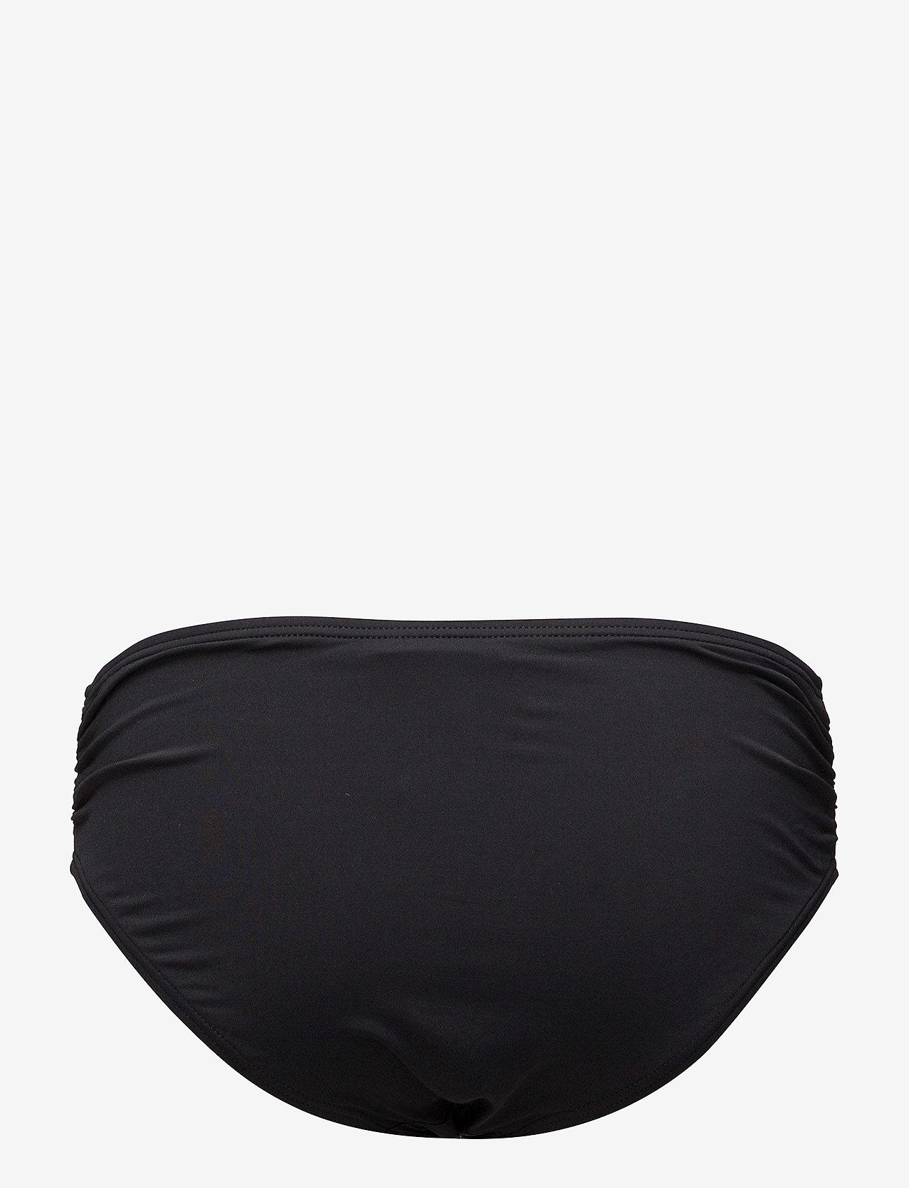 Michael Kors Swimwear - Iconic Solids Shirred Bikini Bottom - bikinibroekjes - black - 1