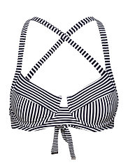 Mini Stripe Tie Cross Back - NEW NAVY