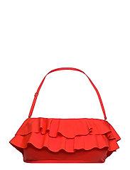 Iconic Solids Ruffle Bandeau Bikini Top - POPPY